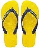 Havaianas Brasil Logo Unisex Kids Flip Flops,Yellow, 1/2 UK (33/34 BR) (35/36 EU)