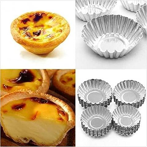achievess (TM) 100Ei Tart Aluminium Cupcake Kuchen Cookie Form Puddingform Backen Tool Neues Ping, xl