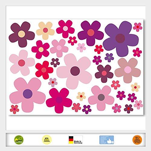 set-di-adesivi-fiori-blumchen-lilla-foglio-a4-articolo-n-auto-242-viola-lilla-rosa-rosa-aussenkleben