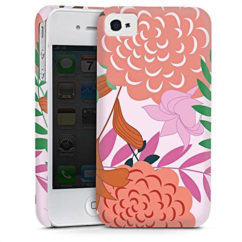 Apple iPhone 6 Housse Étui Silicone Coque Protection Fleurs Fleurs Motif Cas Premium mat