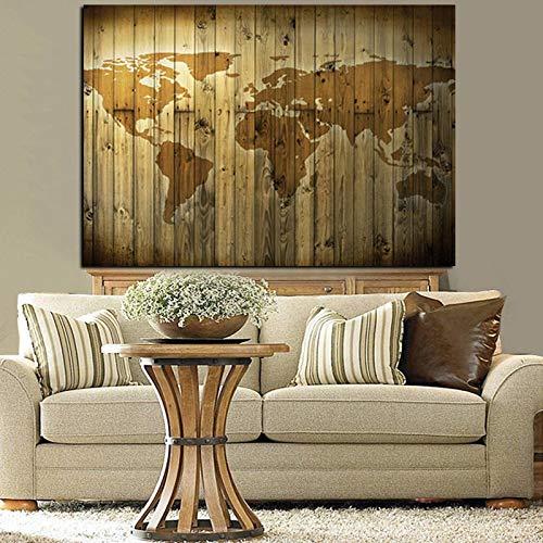 Kunstbild europa retro weltkarte abstrakte malerei auf leinwand wandkunstbild sofa modernes wohnzimmer (kein rahmen) 20x30cm