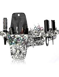 Kassaki Trousse de coiffure Outil Ceinture en Imprimé fleurs pour les coiffeurs Salon Accessoires étui de rangement Sac de Session