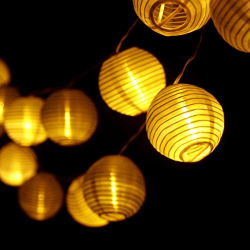 LED Lampion Kugel ø 20 cmGarten Party Beleuchtung Deko Laterne Gartenlampion