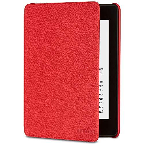 Amazon Kindle Paperwhite-Lederhülle, kompatibel mit der 10. Generation (2018), Rot