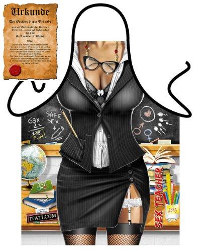 Lustige Grillschürze unisex : Teacher Scherzartikel Schürze mit Gratis Griller - (Lehrer Kostüme Schnelle)