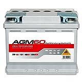 Panther AGM 60 - 12 V / 60 Ah - 550 A/EN - AGM60 Autobatterie