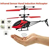 MANAN Hand Induction Control Flying Helicopter Infrared Sensor Aircraft (Without Remote) Kids Flying Toy Gifts USB Charger Flying Mini Sensor Infrared Induction Heli Plane With Flashing Light Toys For Kids