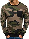 BOLF Langarmshirt Sweatshirt Pullover Athletic 0741 Khaki XL [1A1]