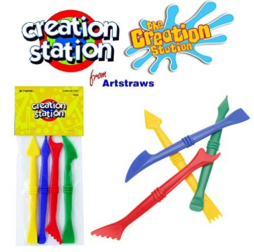 creation-station-colour-plastic-modelling-tools-clay-dough-children-kids-arts-craft-activity-pack-4-