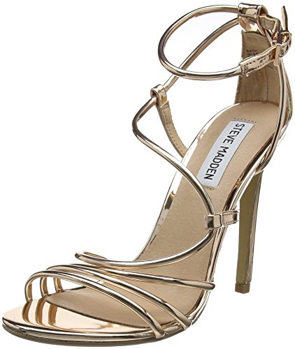 Steve Madden Smith Sandal, Escarpins Bride Cheville Femme Gold (Rose Gold)