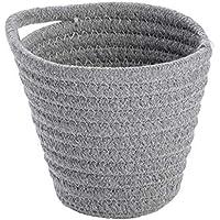 WENKO 1 Corbeille Soria gris, Panier de rangement moderne pour la salle de bain, le WC d'invités et l'ensemble du foyer…