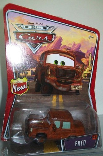 Fred Disney Pixar Cars Mattel World of Cars Background Card With New Sign Symbol On Left Side of Background Card by Disney