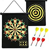 Magnetic Dartboard Set Includes Double Sided Magnetic Dart Target And Strong Magnet Dart 17 Inch Dart Board (Multicolor)