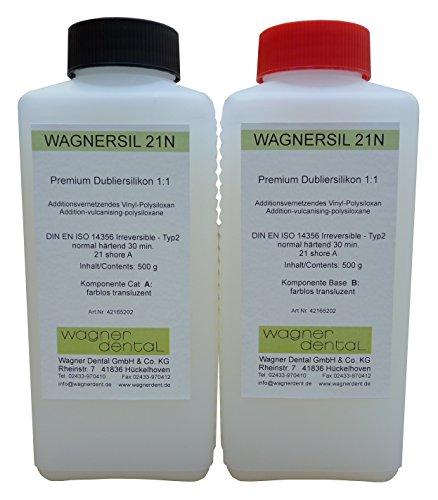Wagnersil 21 No transluzentes Premium Silikon Kautschuk Dubliersilikon (Weich) 1 kg