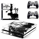 Playstation 4 + 2 Controller Aufkleber Schutzfolie Set - Kingdom Hearts