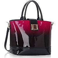 signore LeahWard Borsa delle donne di qualità Borsa in pelle di qualità sacchetto di modo (Flap Satchel Handbag)