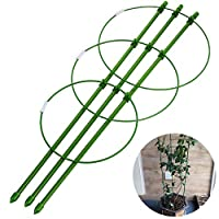 Xiluck Plant Cages,Plant Support Cages, Garden Plant Support Rings Climbing Plants Flowers Vegetables Fruits Plants Tomato Cages Brackets Adjustable (23.62inch)