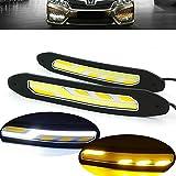 heinmo 2LED-Scheinwerfer Auto COB Nebel Lampe Auto Tagfahrlicht DRL mit Blinker Lichter Wasserdicht