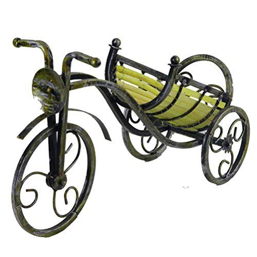 Jiahe portabottiglie vino - portabottiglie vino o porta vino a parete dispenser wine bar biciclette in metallo ottico (3 colori),c