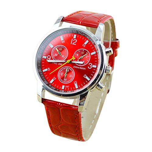 round-dial-faux-leather-strap-quartz-mens-wrist-watch-red