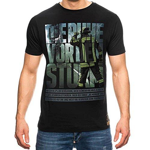 DIE RUHE VOR DEM STURM Feuerwehr T-Shirt Männer, Größenauswahl:XXL (Jugend Deutschland T-shirt)