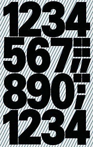 Avery Zweckform 3784Lot de 30 étiquettes lettres A-Z autocollantes 25mm (film résistant aux intempéries) Chiffres 25 mm schwarz