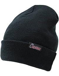 Bekleidung Rollmütze grau Mütze Thinsulate Strickmütze Wintermütze Skimütze gefüttert Camping & Outdoor
