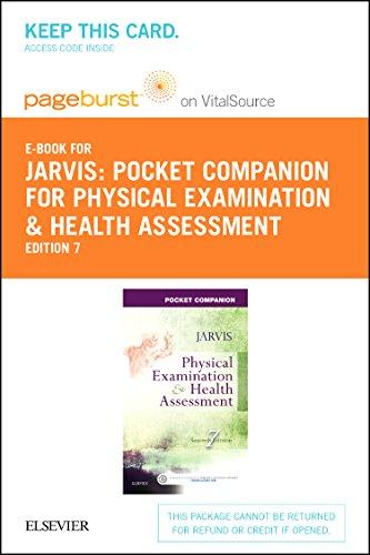 Pocket Companion for Physical Examination & Health Assessment Pageburst E-book Access Card