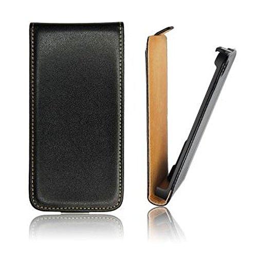 Flip Case/Klapp Tasche/Cover Slim für BlackBerry Z10 schwarz (Flipcase/Klapptasche/Handytasche/Schutzhülle/Etui/Hülle)
