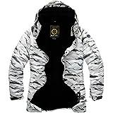 South Play Hombres impermeable Premium Esquí Snowboard Chaqueta Boardwear Chaqueta de esquí colección (White Desert, XL)