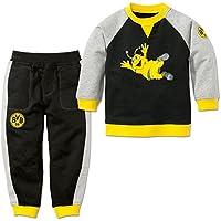 Borussia Dortmund BVB Niños de Largo de Baby Jogger, Negro/Gris/Amarillo,