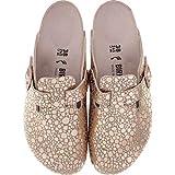 BIRKENSTOCK Boston BF Metallic Stones Damen Clogs&Pantoletten,Frauen Pantoffel,Hausschuh,Shiny,Orig Fußbett,Gold,EU 40S