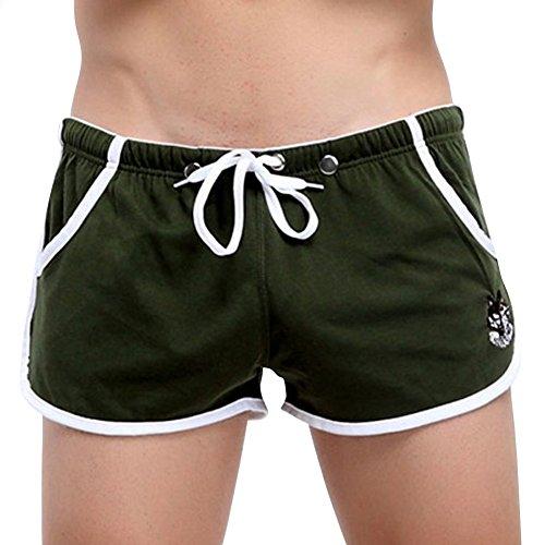 Herren Boxershorts Spalt Tasche Sport Shorts NK48 Gr. L Armee Grün