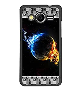 PrintDhaba Earth on Fire D-4133 Back Case Cover for SAMSUNG GALAXY CORE 2 G355H (Multi-Coloured)