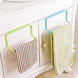 #3: Woogor 2 Pc Towel Rack Hanging Holder Organizer Bathroom Kitchen Cabinet Cupboard Hanger