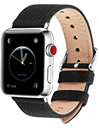 Fullmosa 8 Colors Canvas Apple Watch Straps 44mm 42mm 40mm 38mm, Compatible with Apple Watch Series 5 Series 4 Series 3 Series 2 Series 1