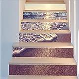 Fandhyy DIY Treppen Aufkleber Korridor Treppen Treppen Dekoriert Bodenpaste 3D PVC Wasserdichte Wandaufkleber 6 Teile/Satz