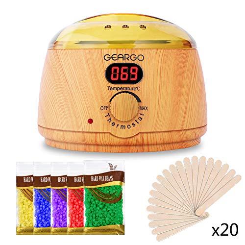 GEARGO Calentador de Cera con Pantalla LCD