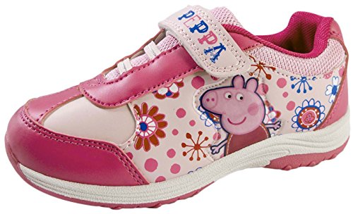 Girls Peppa Pig Sports Trainers Kids Shoes Childrens Pumps Size UK 5-13