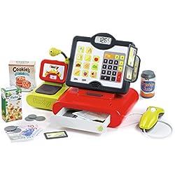 Smoby - 350102 - Caisse Enregistreuse Electronique - Accessoires Inclus - Effets Sonores et Lumineux