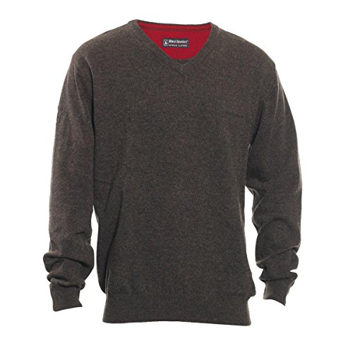 DEERHUNTER Brighton tricot col V - Vert, Medium