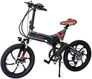 Aest Top730 Folding Electric Bike - Black Grey (20 Inch)
