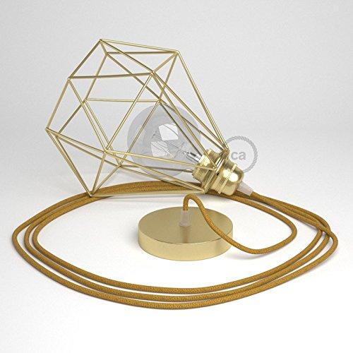 lampe-baladeuse-avec-abat-jour-cage-diamond-finition-laiton-et-cable-rl05-effet-soie-paillettes-dore