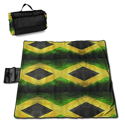 Flag of Jamaica Seamless Pattern Oversized Foldable Picnic Blanket 57