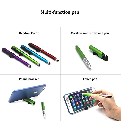 Bolígrafo Multifuncional, bolígrafo de Moda Creativo para teléfonos móviles, bolígrafo táctil, Soporte para Tableta Multifuncional para Oficina y Escuela para Estudiantes Adultos