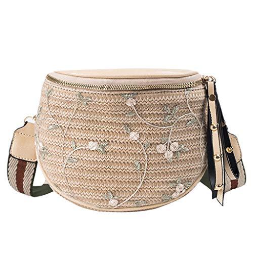 Mitlfuny handbemalte Ledertasche, Schultertasche, Geschenk, Handgefertigte Tasche,Frauen New Fashion Break Wilde Bucket Bag Messenger Schultertasche Weben Tasche