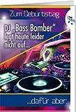 Grußkarte A5 +++ MIT MUSIK & LICHT von modern times +++ DJ BASS BOMBER +++ BENTINO