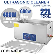 Autovictoria Limpiador Ultrasónico Profesional 22 Litros Calentador con Patalla Digital para limpiar Piezas Metálicos Joyas/