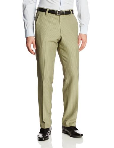 Kenneth Cole Reaction Men's Heather Vertical Modern Fit Flat Front Dress Pant