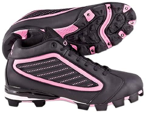 ACACIA Pink Diamond-Mid Baseball/Softball Shoes, Black/Pink, 9.5